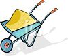 Wheelbarrow Full of Sand clipart