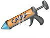 Caulking Gun Loaded with Caulk Tube clipart