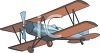 Bi-Plane Airplane clipart