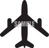 Commercial Airplane Silhouette clipart