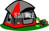 Dome Tent With Sunshade clipart