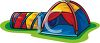 Colorful Dome Tent clipart