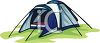 Tent with Separate Rooms clipart