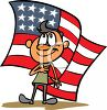 Boy Doing the Pledge of Allegiance clipart