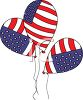 Patriotic Balloons clipart