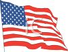American Flag Waving clipart