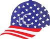 Patriotic Ball Cap clipart