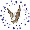 Eagle Surrounded by Stars clipart
