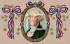 Vintage Portrait of George Washington  clipart