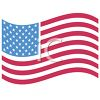 American Flag Celebrating the 4th of July clipart