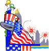4th of July Page Border clipart