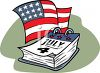 4th of July Calendar Page clipart