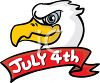 Bald Eagle with a July 4th Banner clipart