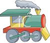 Toy Steam Engine Train clipart