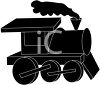 Steam Engine Train Silhouette clipart
