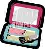 Cosmetics Compact clipart