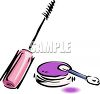 Cosmetics-Mascara and Eyeshadow clipart