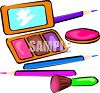 Cosmetics-Eyeliner and Lipsticks clipart