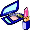 Cosmetics-Compact and Lipstick clipart