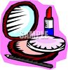 Cosmetics-Lipstick and Pressed Face Powder clipart