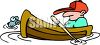 Man Sleeping in His Fishing Boat clipart