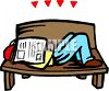 Man Sleeping on a Park Bench with a Newspaper Over His Face clipart