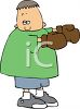 Boy Wearing Boxing Gloves clipart