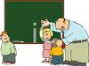 School Teacher Talking to His Students in Class clipart
