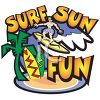Surf and Sun Logo Graphic clipart