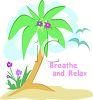 Palm Tree Relax Logo Graphic clipart