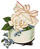 Vintage Wedding-Ring Box with Forget-Me-Nots clipart
