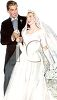 Vintage Wedding-Newlywed Couple clipart