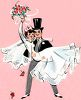 Vintage Wedding-Groom Carrying the Bride clipart