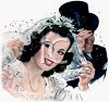 Vintage Wedding-Happy Newlyweds clipart