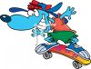 Hip Hop Skater Dog clipart