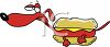 Wiener Dog in a Bun clipart