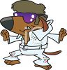 Dog Impersonating Elvis clipart