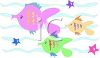 Fish Swimming in the Ocean with Starfish clipart