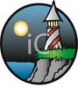 Lighthouse at Night clipart