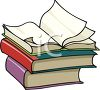 Open Book On Top of a Stack clipart