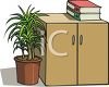 Books on a Filing Cabinet clipart