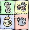 Hot Beverages-Tea and Coffee clipart
