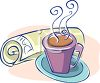 Hot Coffee and the Morning Paper clipart