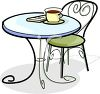 Coffee Sitting on a Bistro Cafe Table clipart