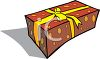 Birthday Gift Wrapped and Tied clipart
