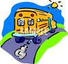 Schoolbus Driving Away clipart