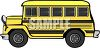 Short Yellow Shcoolbus clipart
