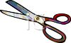 Old Fashioned Scissors clipart