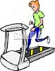 Girl Running on a Treadmill clipart