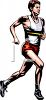 Man Running in a Race clipart